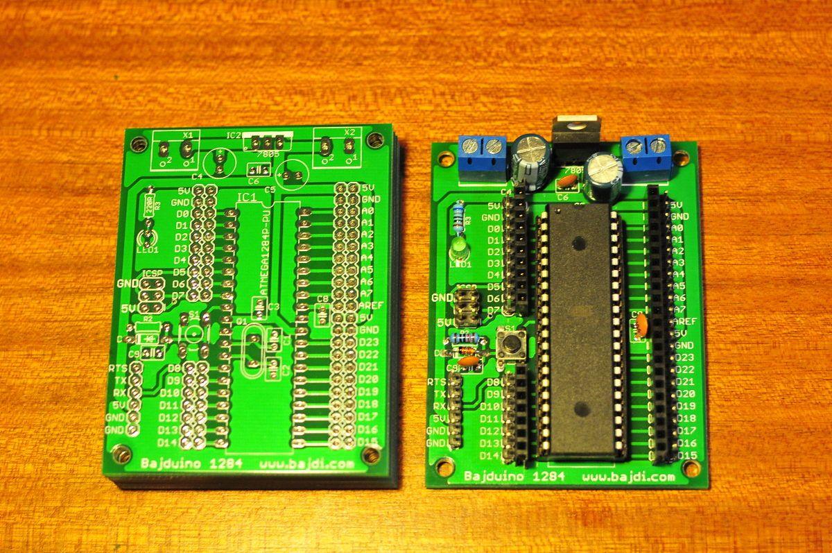 Bajduino 1284 arduino breakout board gaming products