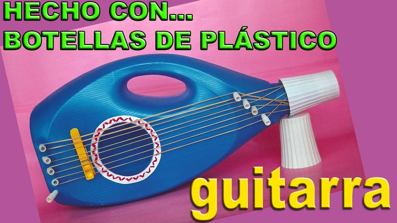 Crafts With Plastic Bottles How To Make Toys Guitar