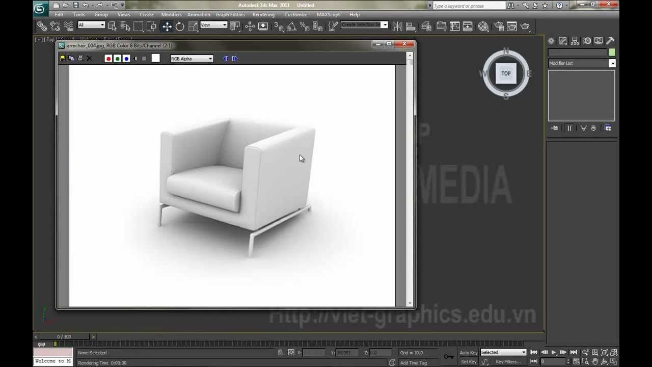 3Ds Max Tutorial Armchair Modelling VIET GRAPHICS MULTIMEDIA IAD