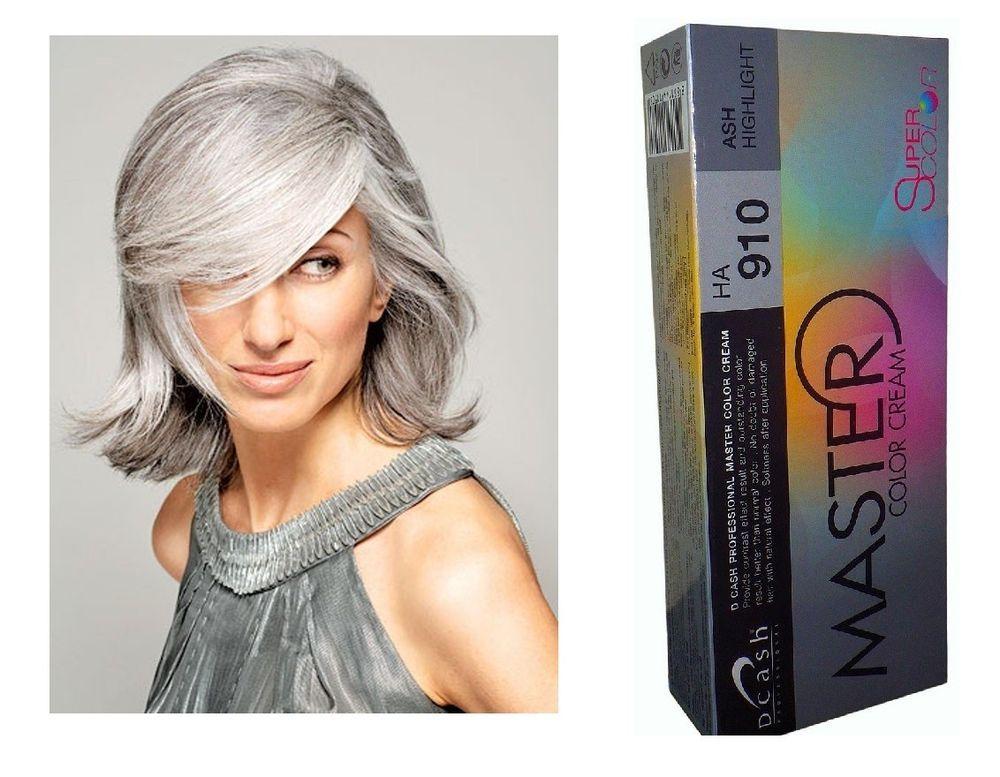 Hair Color Permanent Cream Dye Starlist Ash Silver Grey