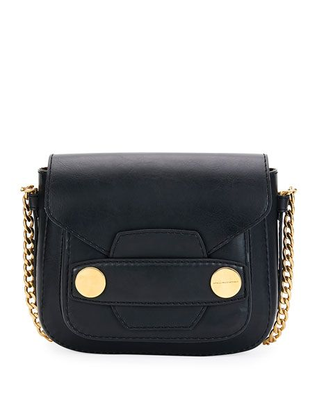 STELLA MCCARTNEY Popper Medium Faux-Leather Crossbody Bag, Black.   stellamccartney  bags  shoulder bags  leather  polyester  nylon  crossbody   eed405d81c
