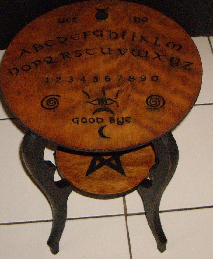 OUIJA TABLE ART Ouija Board Table 19th Century The