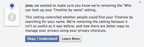 Facebook deixa de permitir ocultação de perfil das pesquisas