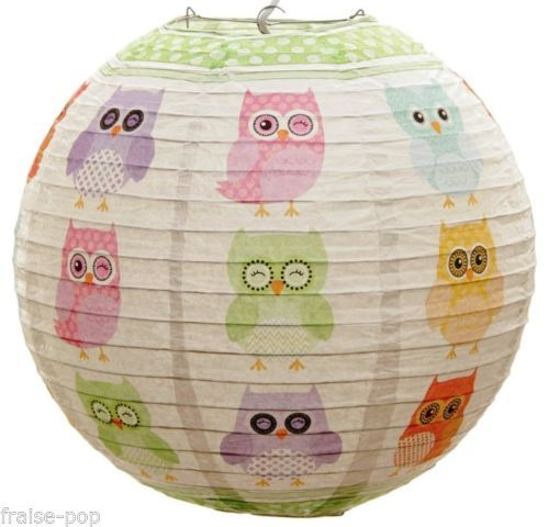 Simple suspension boule japonaise hibou chouette lampe - Boule a the ikea ...