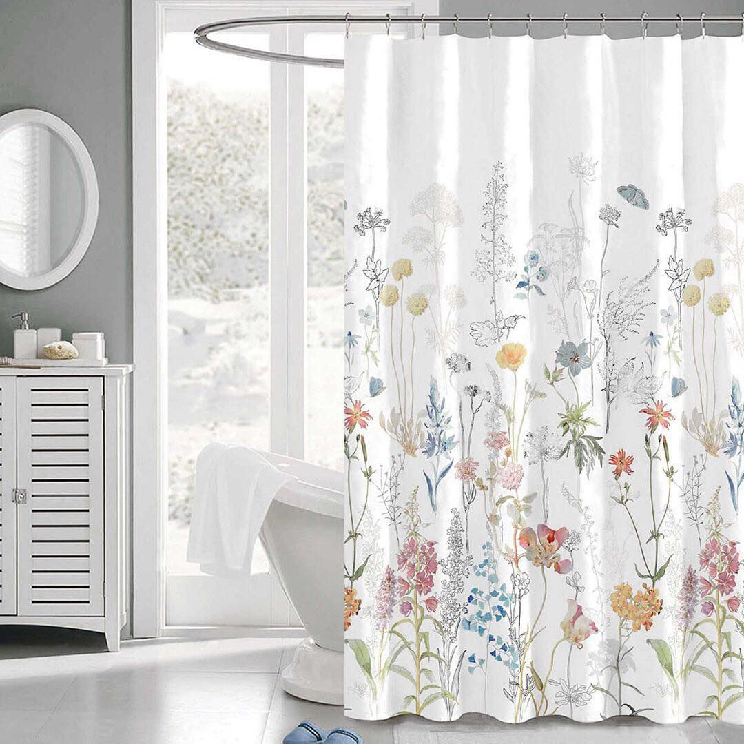 Penrhyn Shower Curtain Features A Stunning Medley Of Wild Flowers
