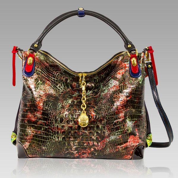 $653.30+-+Marino+Orlandi+Designer+Red+Alligator+Leather+Large+Crossbody+Bag+[02MO4284ALRD]+:+Italian+Leather+Handbags,+Top+Rated+Designer+Hand+Bags,+Trendy+Designer+Handbags