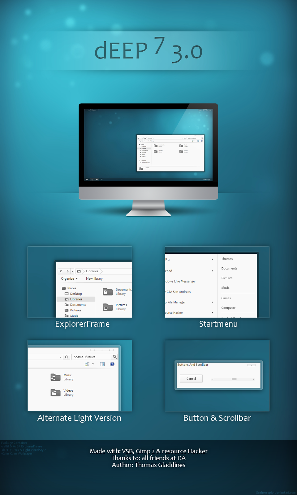 dEEP 7 3.0 Theme For Windows 7 cleodesktop Download http
