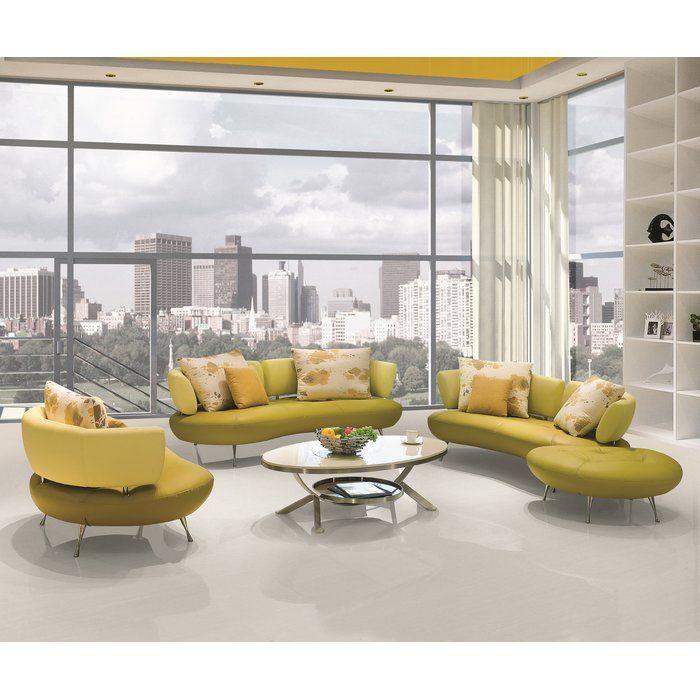 Best Palomo 4 Piece Leather Living Room Set Living Room Sets 400 x 300