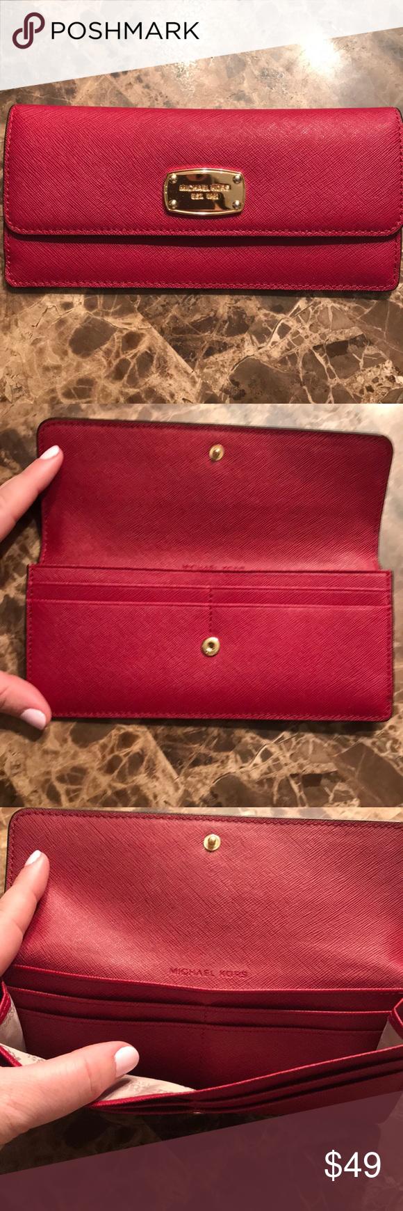 MK red wallet