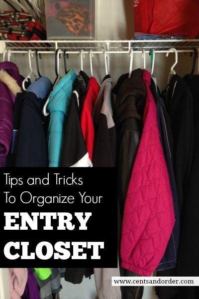 How To Organize A Small Entry Closet