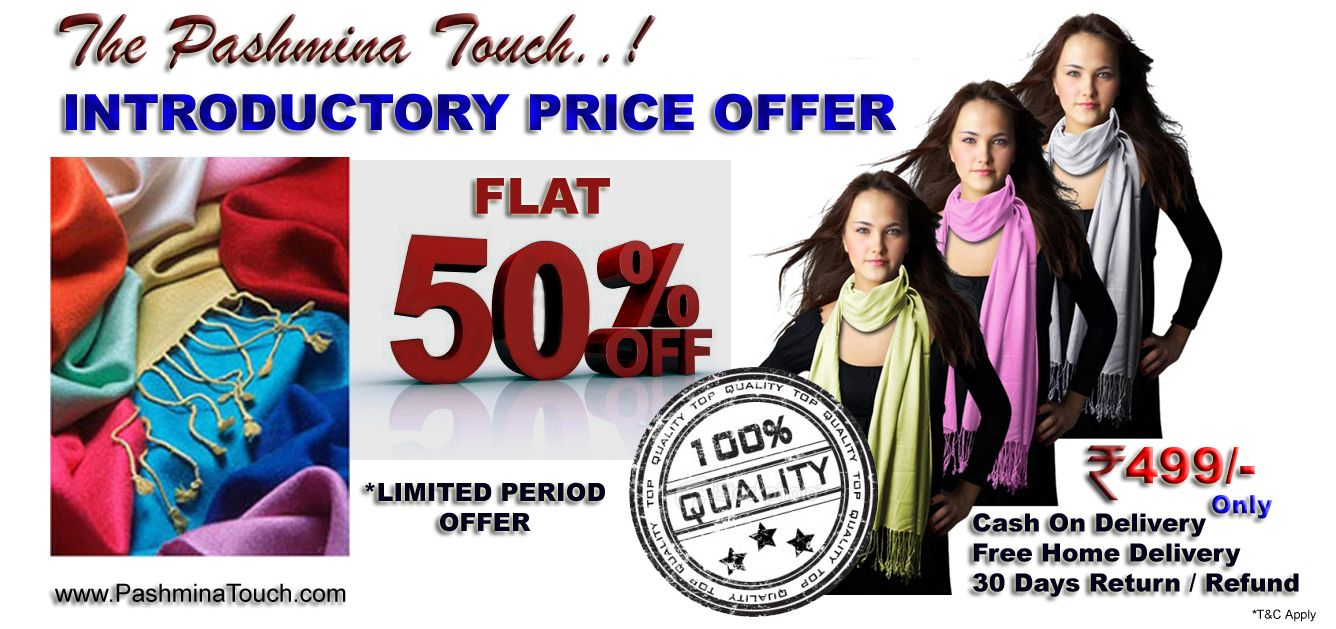 "Promo Plus Recommends - www.PashminaTouch.com & its Great Offers ""This is a Charasmatic Product, sells very well"""