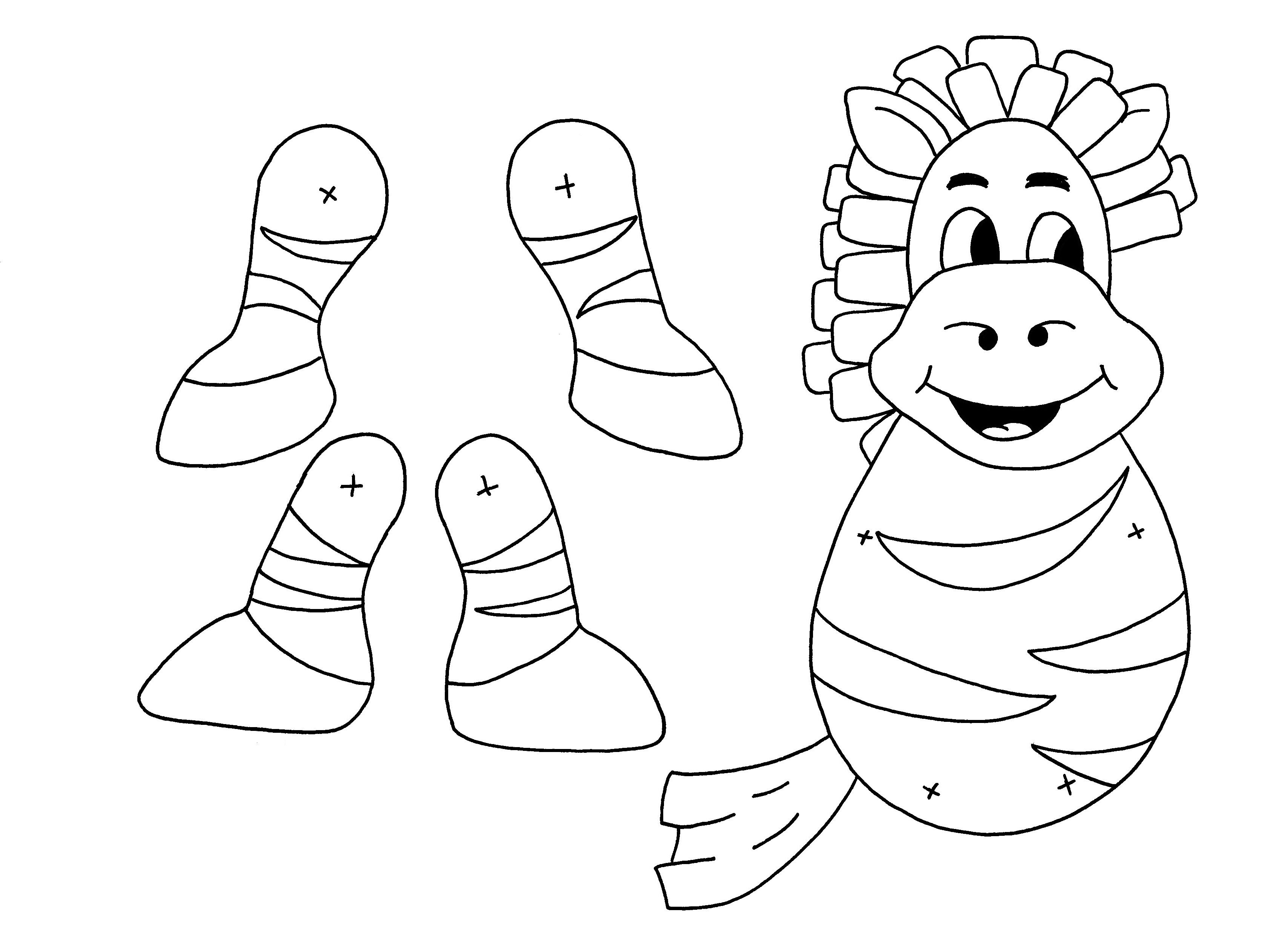 Zebra puppet from zvierat for Paper finger puppets templates