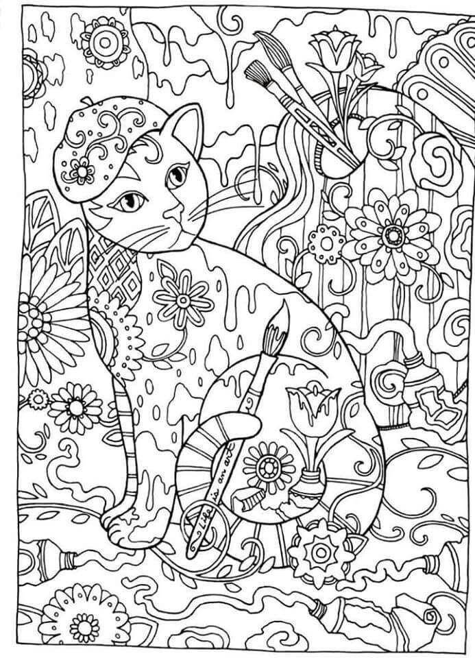 Creative Haven Cats Dover Publications Coloring Mas
