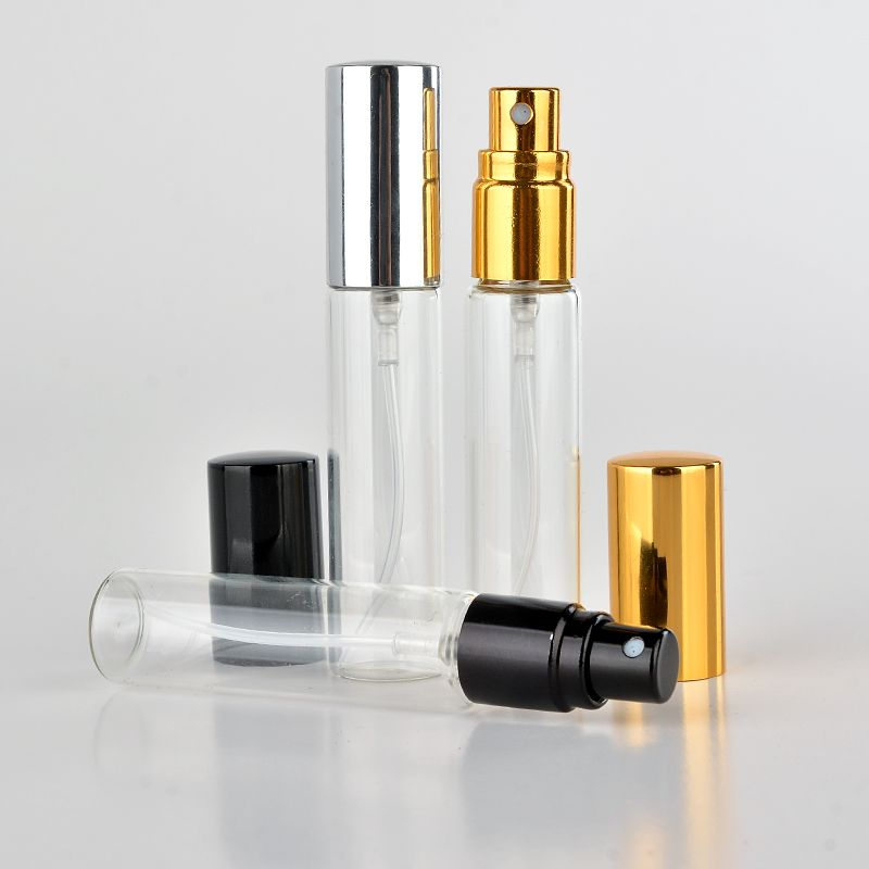 Wholesale 100 Pieces Lot 10ml Portable Glass Refillable Perfume Bottle With Aluminum Atomizer Empt In 2020 Refillable Perfume Bottle Perfume Bottles Refillable Perfume