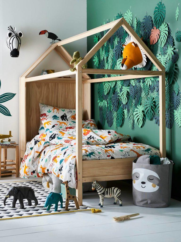 Une chambre jungle tropicale pour enfant #ideedeco #chambrefille #chambregarcon #chambreenfant