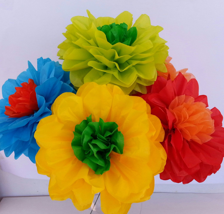Fiesta tissue paper flowers weddingsdecorations