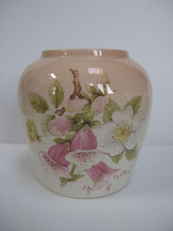 Pink Palissy Vase Foxglove Vase Royal Worcester Spode China