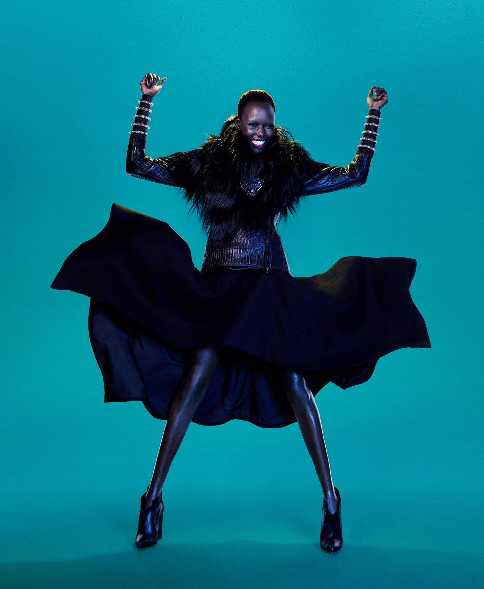 Ajak Deng by John-Paul Pietrus for Modern Weekly China September 2012. Fashion editor: Ting Ting Lin