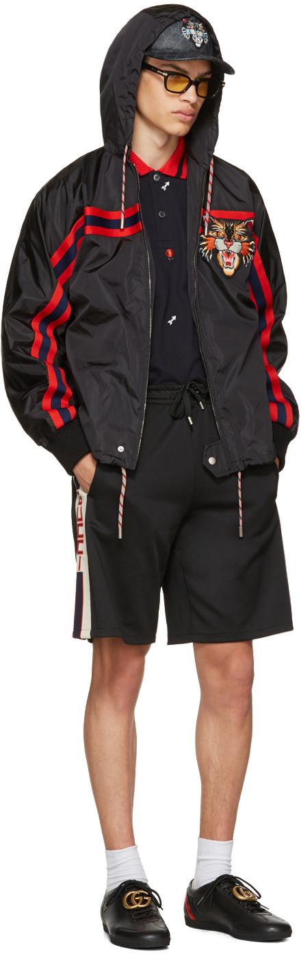 8bae335bff7 Gucci - Black Angry Cat Windbreaker Jacket