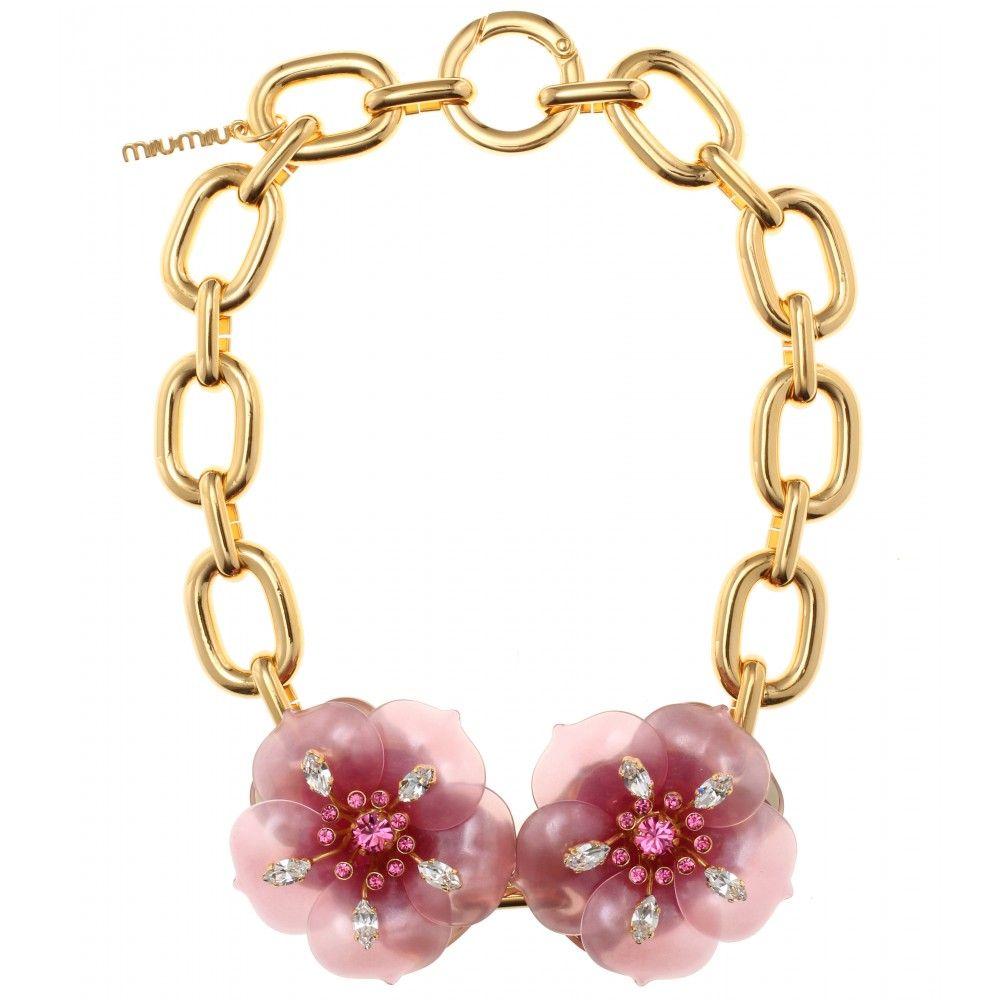 d869dd5a609 mytheresa.com - Miu Miu - NECKLACE WITH OVERSIZED FLOWER EMBELLISHMENT -  Luxury Fashion for