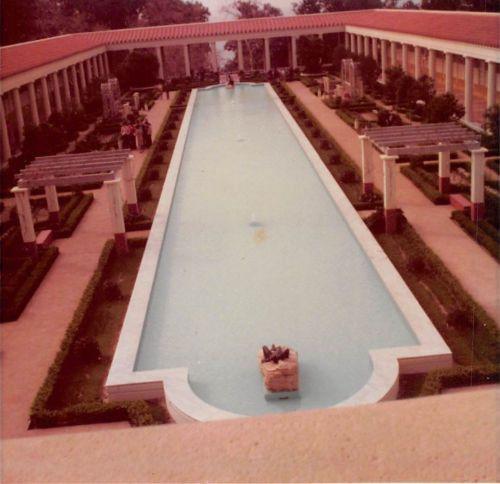 Photograph Snapshot Vintage Color: Professional Garden Pool Landscape 1960's