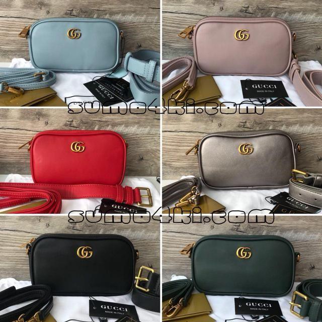 8a2d57457a07 Женская поясная сумка Gucci Материал : Эко.кожа ; Цвет : голубой , розовый ,