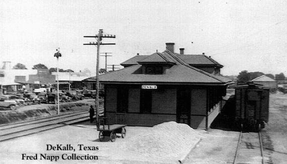 Dekalb Texas Stations Structures Dekalb Tx C1920s The Texas Pacific Railway Dekalb Railway Pacific