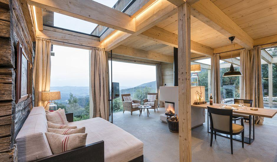 Stadl Altenbach Construction, Haus and House - holzbalken decke interieur modern