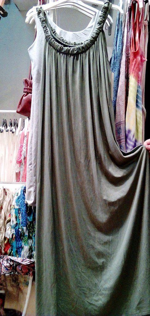 5ff536ea25ab Μακρύ μακό φόρεμα viscose σε φαρδιά γραμμή.