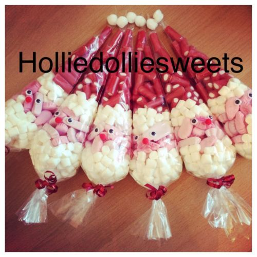 Large Father Christmas Santa Filled Sweet Cones Look