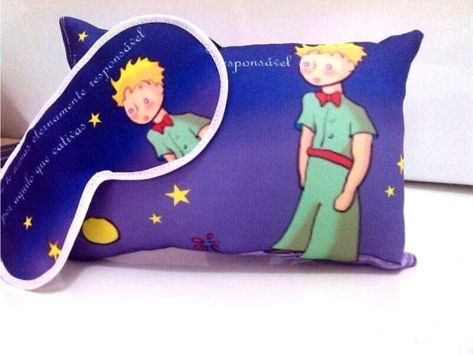 Kit Almofadinha e Máscara de Dormir Pequeno Príncipe R$35,00