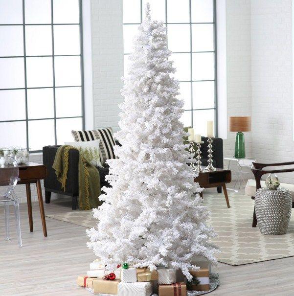 decorated-white-christmas-trees Christmas Tree Decorations - white christmas tree decorations