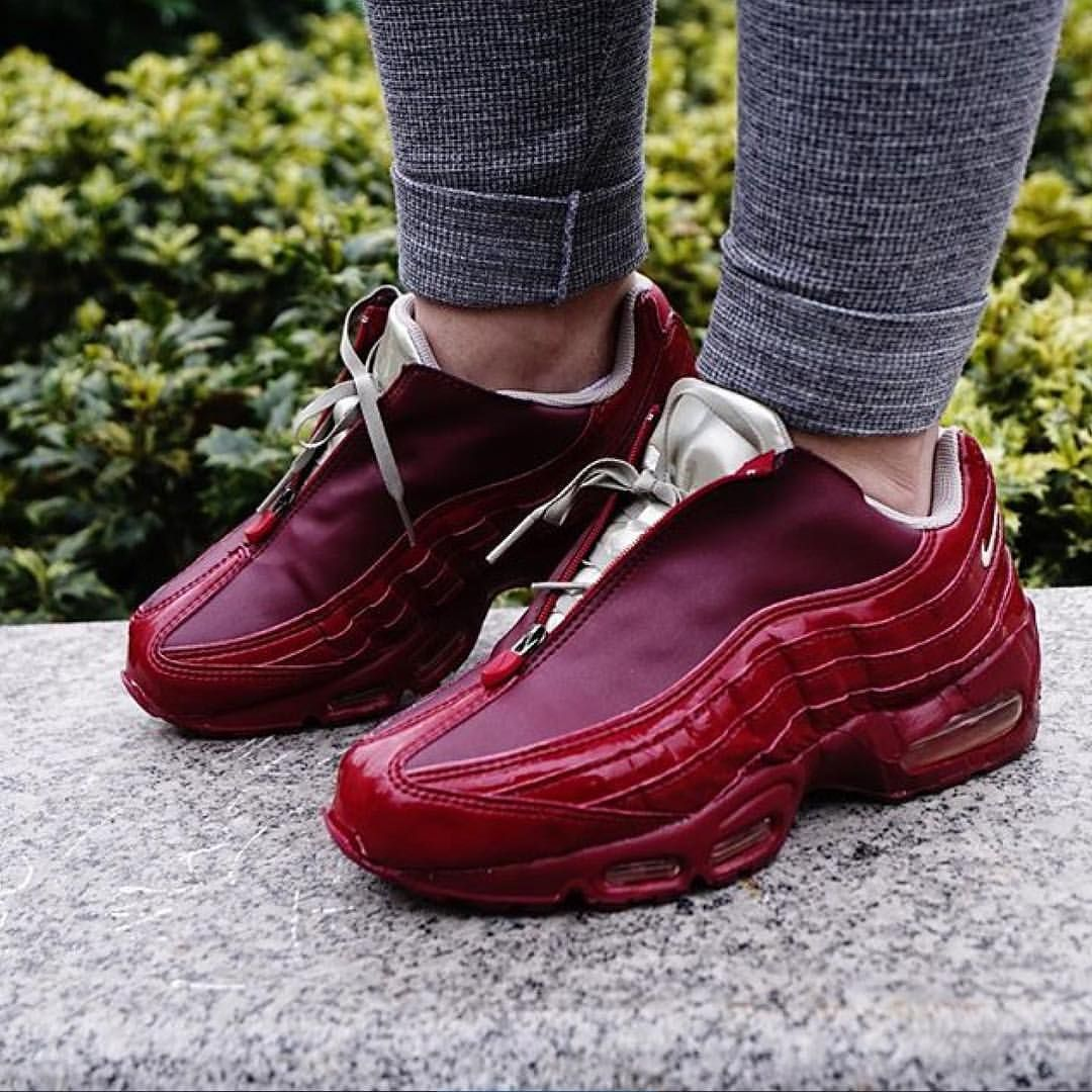 nike air max 1 sneaker boot deep burgundy hair