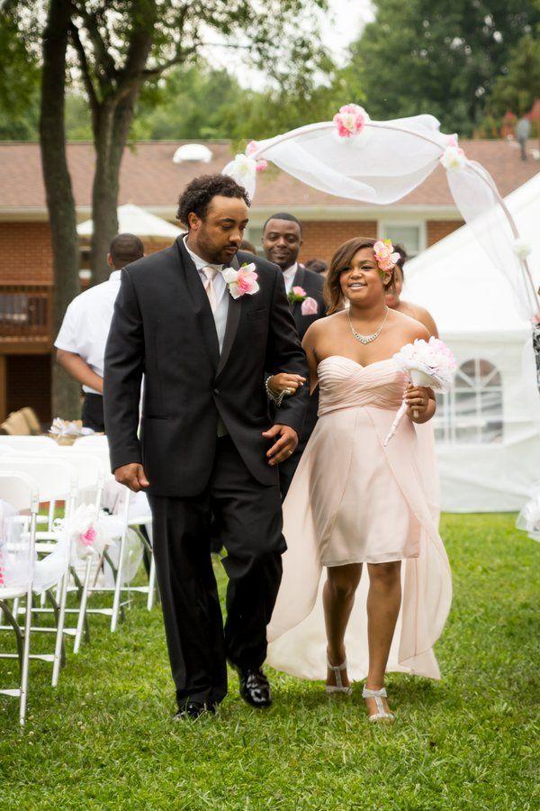 #BigDay #weddings # realweddings   Desiree & Maurice's Romantic Backyard Wedding Check more at http://bigday.io/2015/10/30/desiree-maurices-romantic-backyard-wedding/