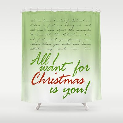 All I Want For Christmas Is You Shower Curtain Mariah Carey Justin Bieber By Audiovisuals 68 00 Things I Want All I Want Shower Curtain