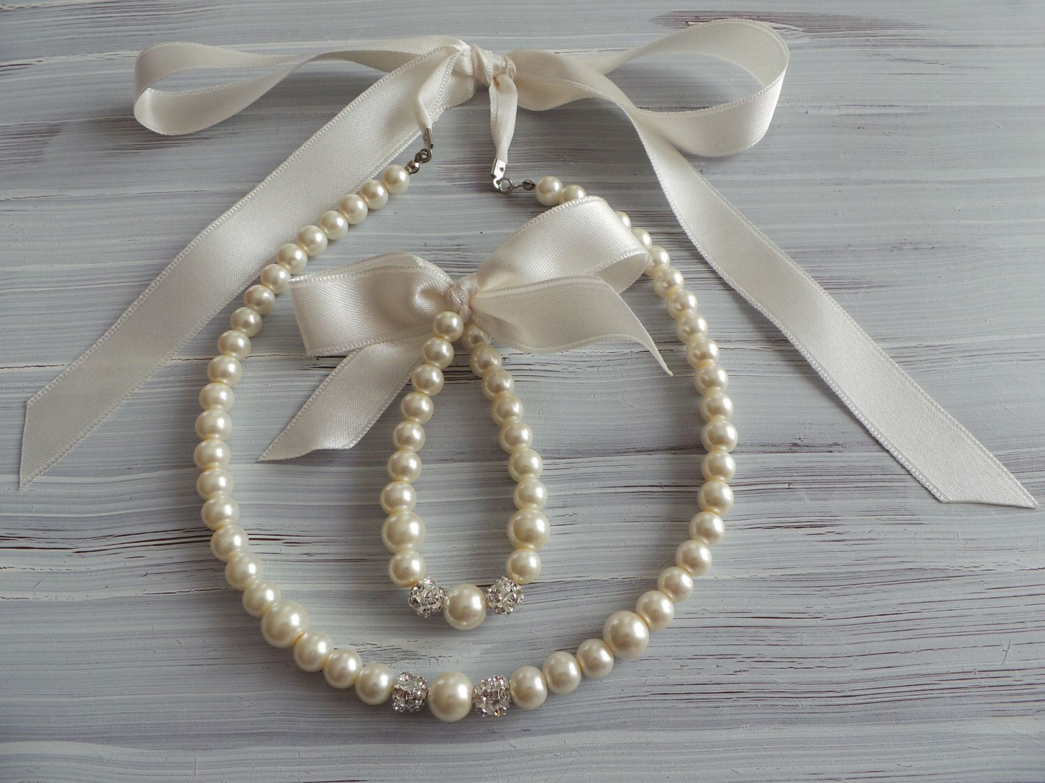 tutorial necklaces to diy satin design make best vibrant how pearl ribbon and necklace