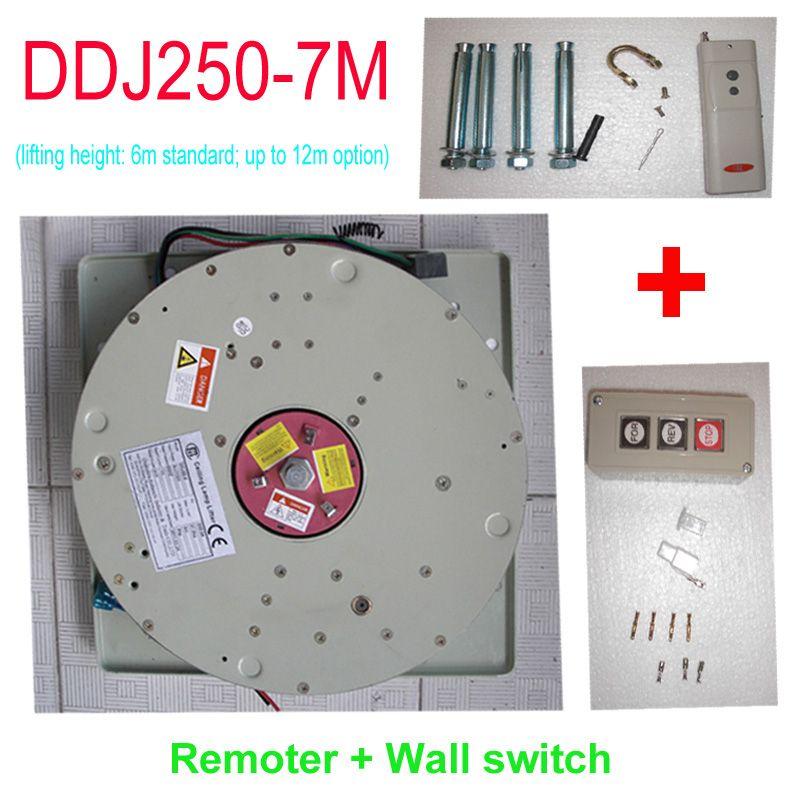 250KG 7M Wire Control+Remote Control Chandelier Hoist