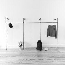 Simple Liebevoll in Hamburg handgefertigtes Rohrsystem f r offenen Kleiderschrank aus Stahlrohr Zum Aufh ngen deiner Kleidung