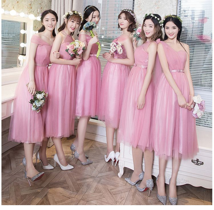 New highend wholesale Bridesmaid Dress Fashion Korean
