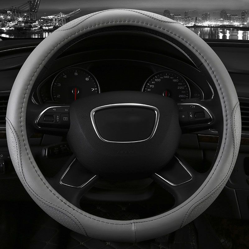 Genuine Leather Car Steering Wheel Cover Five Colors For Dodge Dacota Caliber Journey Nitro Interior Accessories Car Steering Wheel Cover Steering Wheel Cover