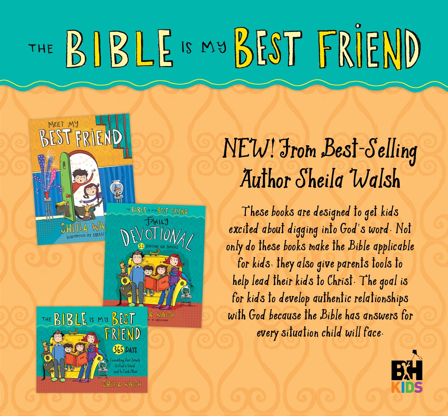 Help Sheila Walsh launch her new book series for young children and their parents, which shows families how to spend time daily with their best friend - the Bible!   Go here http://j.mp/1JO09tZ to apply. Hurry, spots are limited!