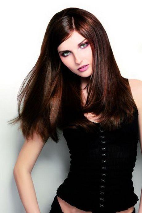 braune lange haare frisuren styling ideen pinterest. Black Bedroom Furniture Sets. Home Design Ideas