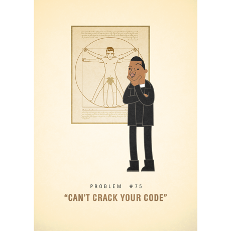 #75 Can't crack your code -  Jay-Zの苦悩を描くアートポスター by Ali Graham