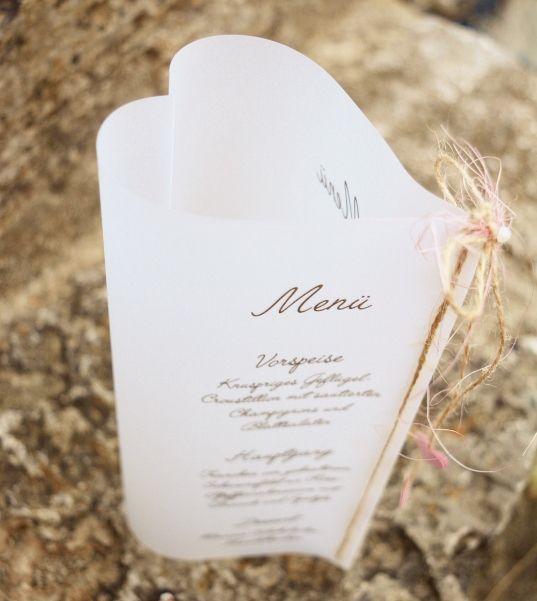 Tarjeta de menú Rosy Heart
