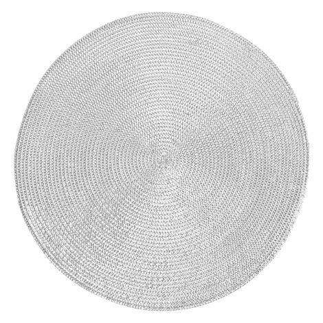 Zara Home Metallic Thread Placemat In Silver