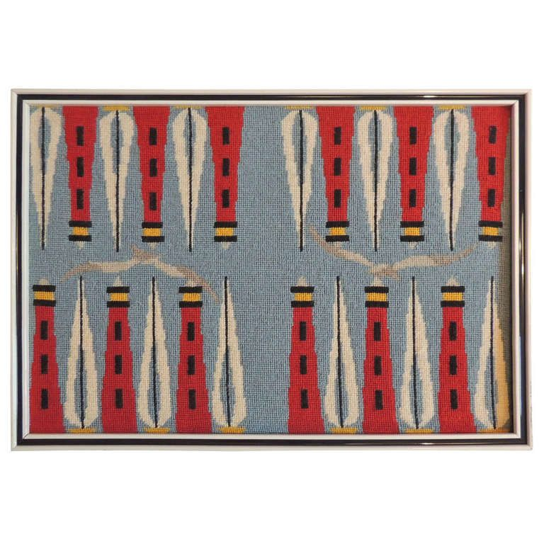 pepita Backgammon and Compass Rose Needlepoint Canvas