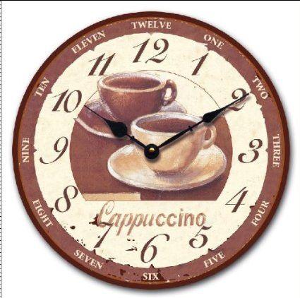 orologio da parete design cappuccino 30 cm per cucina o salotto nuovo