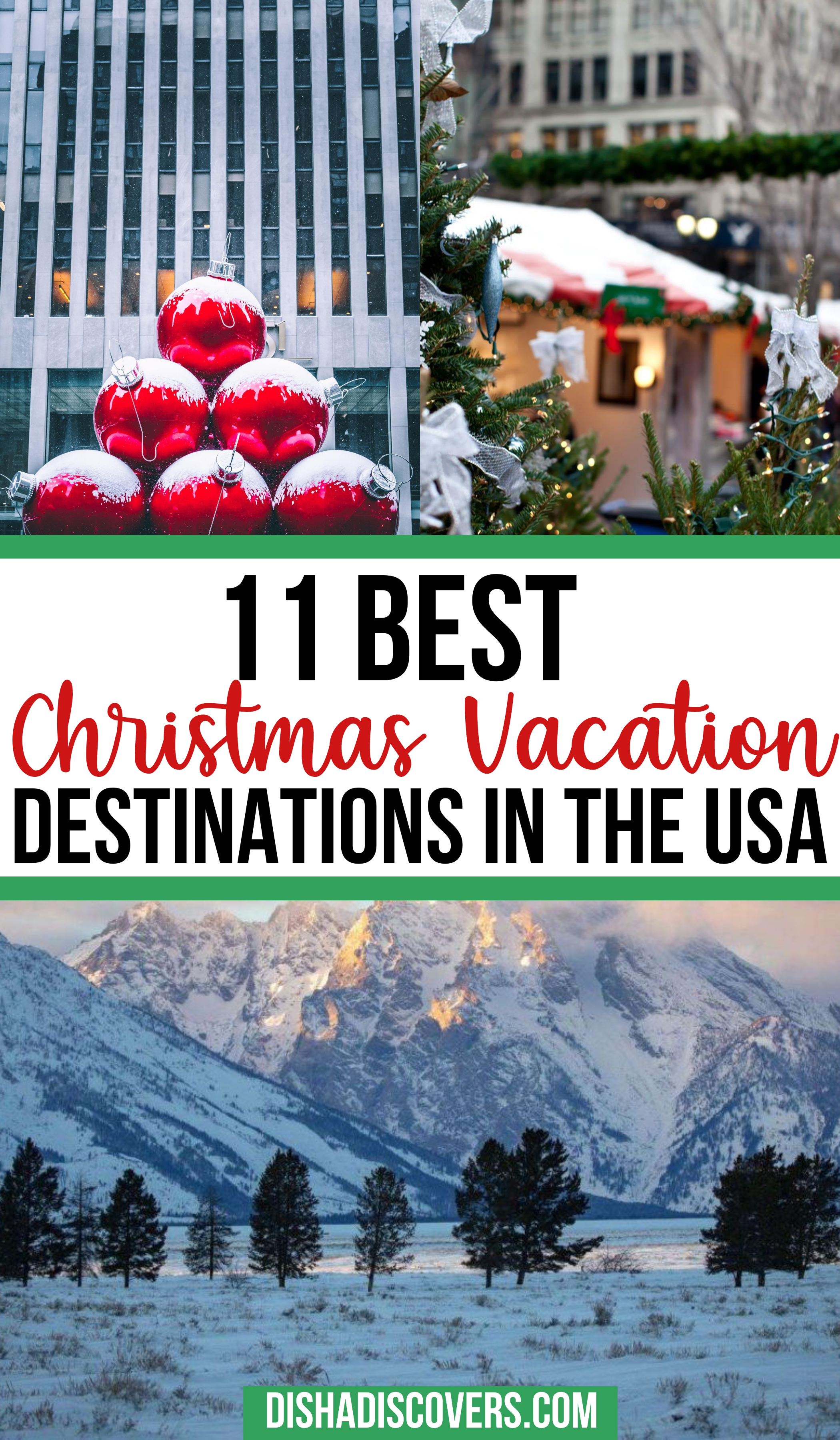 Usa Christmas Destinations 11 Of The Best Holiday Getaways In America In 2020 Christmas Vacation Destinations Christmas Travel Travel Usa