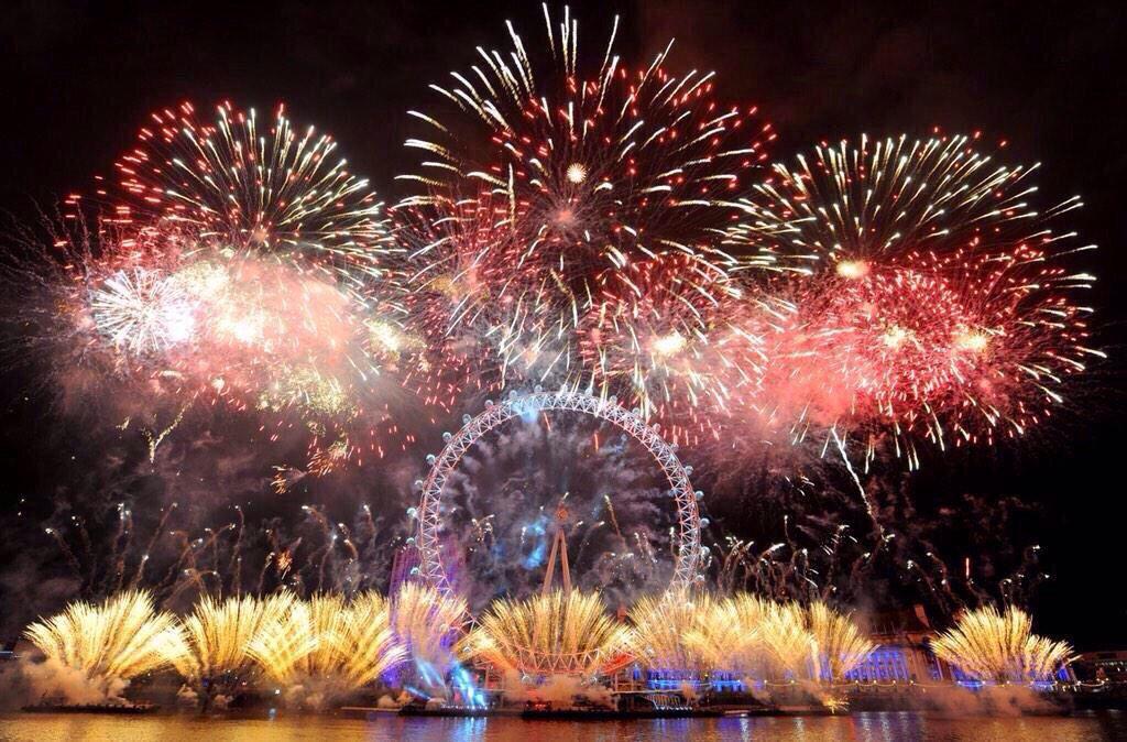 London 2015 fireworks New years eve fireworks, London