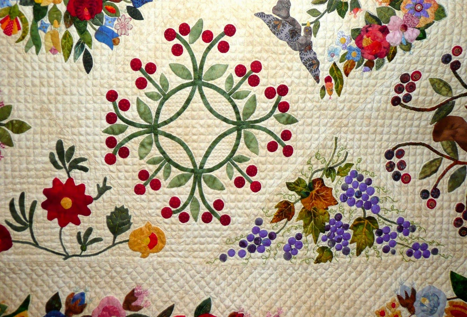Margo Hardie of Lake Haven NSW, Australia, made Gorsuch Family Quilt Circa 1840 Revisited  detail